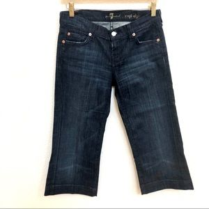 7 for all mankind dark denim jeans crop dojo Sz 26
